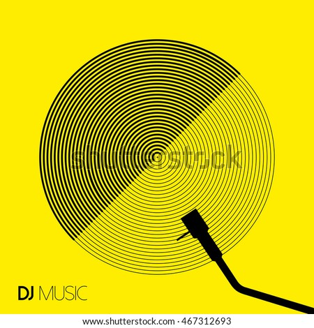 dj music concept in geometric