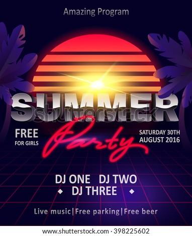 dj summer party  night club