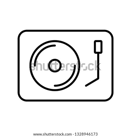 DJ Turntable icon. Symbol logo illustration