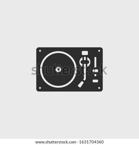 Dj Turntable icon vector illustration
