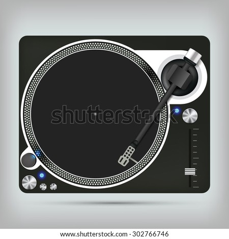 vector images illustrations and cliparts dj turntable vector illustration. Black Bedroom Furniture Sets. Home Design Ideas
