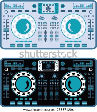 DJ Turntables Vector
