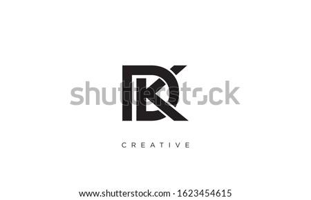 DK OR KD logo design vector Stock fotó ©