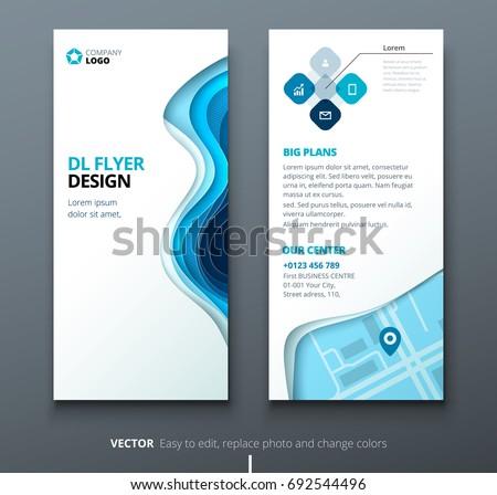 modern blue business brochure flyer template presentation download
