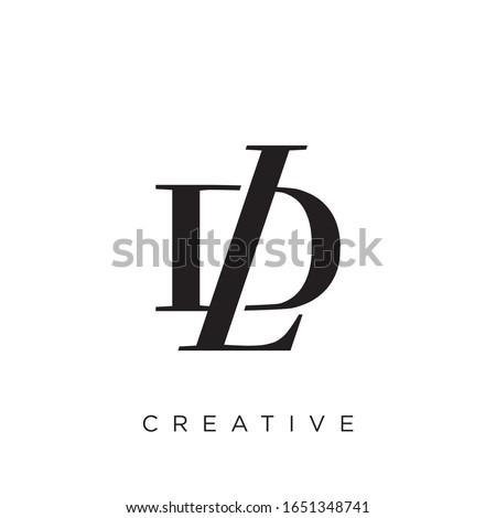 dl or ld  logo design vector icon Stock fotó ©