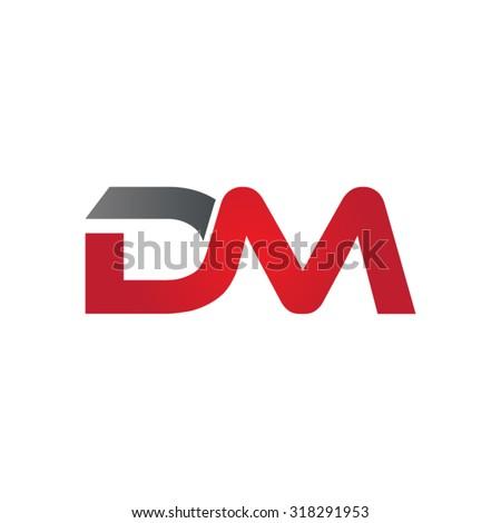 DM company group linked letter logo Stok fotoğraf ©