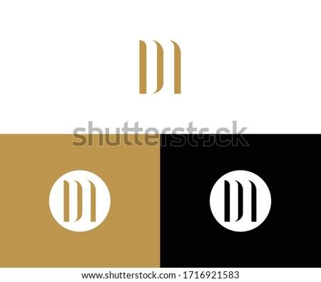 dm logo design vector format Stok fotoğraf ©