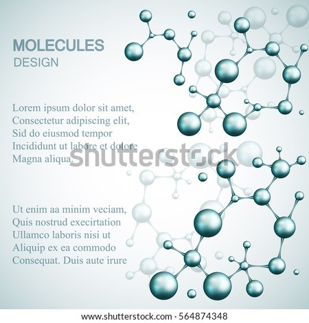 Dna and molecule. Vector template Logo for medicine, science, technology , chemistry, biotechnology.