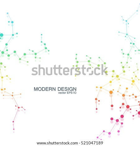 dna and neurons vector