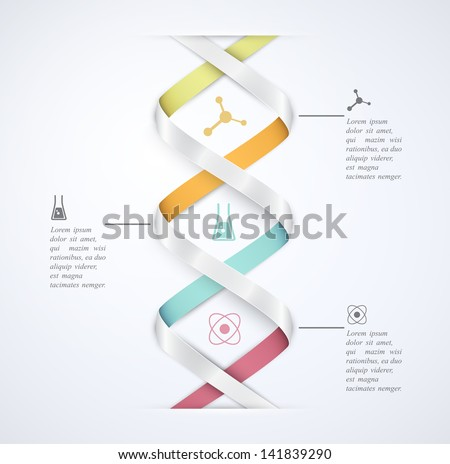 DNA banner, science infographics. Illustration contains transparency and blending effects, eps 10