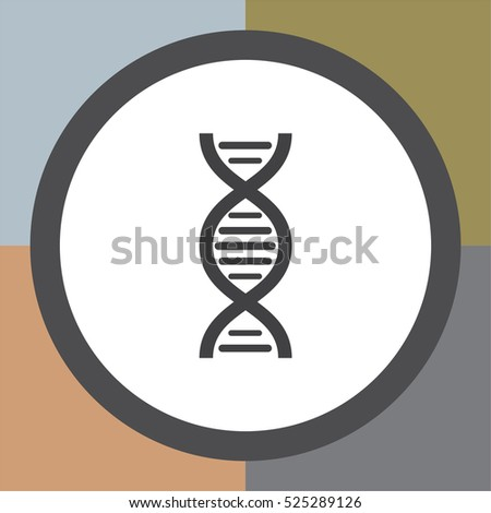 dna chain sign vector icon