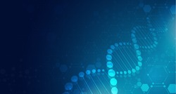DNA digital, sequence, code structure with glow. Science concept and nano technology background. vector design.