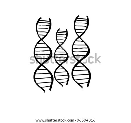 DNA for medical vector illustration