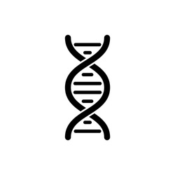 DNA icon in trendy flat design