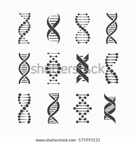 DNA Icons set vector illustration