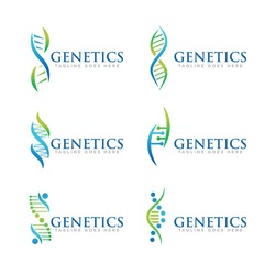DNA Logo Icon Design Vector