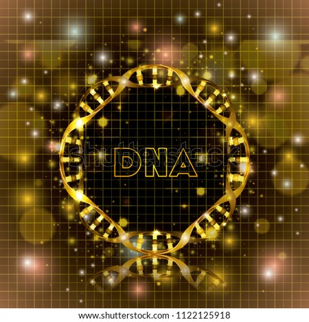 dna molecule circular golden structure