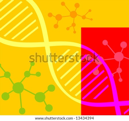 DNA pattern	 - stock vector