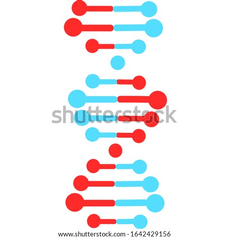 DNA spirals violet and turquoise color. Deoxyribonucleic, nucleic acid helix. Chromosome Spiral strands. Molecular biology. Genetic Genome code. Genetics. Isolated vector illustrations