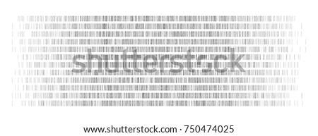 DNA Test, Barcoding,  Genom Map,  - Vector Graphic Element