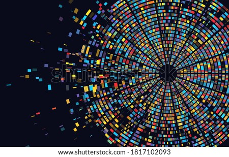 Dna test infographic. Genome sequence map. Chromosome architecture, molecule sequencing chart. Genetic and technology concept. Barcoding template for design vector illustration background Photo stock ©