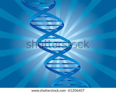 DNA vector - stock vector