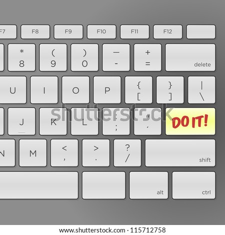 Do It Keyboard - Illustration of keyboard with pushing Do It message