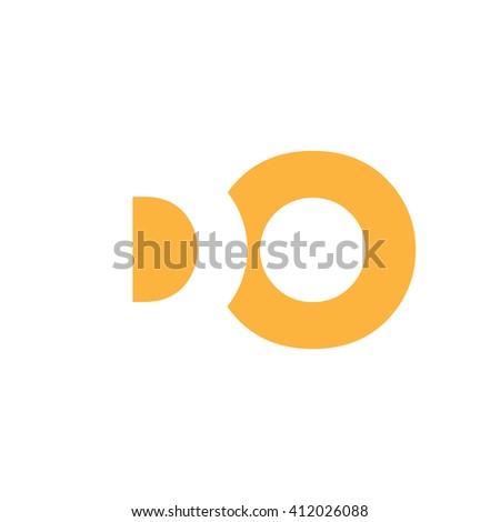 DO Logo. Vector Graphic Branding Letter Element. White Background Foto stock ©