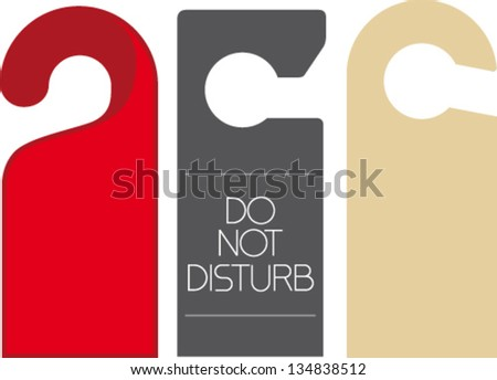 Do Not Disturb - stock vector