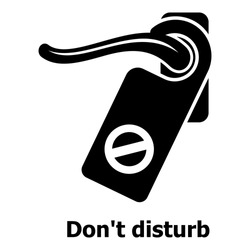 Do not disturb icon. Simple illustration of do not disturb vector icon for web