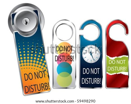Do not disturb label set