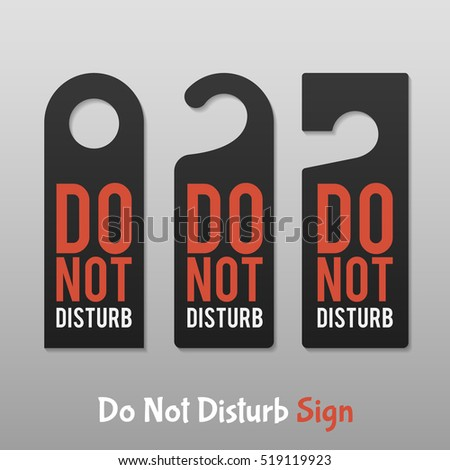 do not disturb sign hotel door