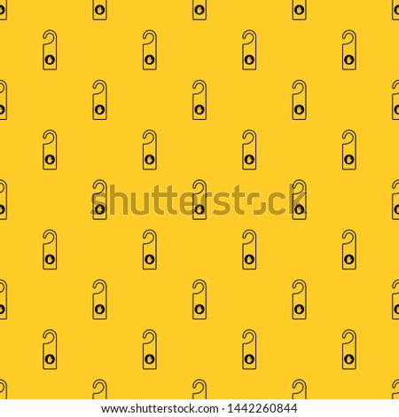 Do not disturb sign pattern seamless vector repeat geometric yellow for any design