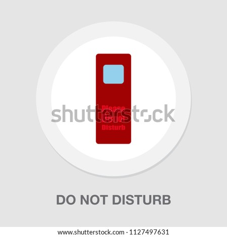 do not disturb sign - vector hotel room sign. room signboard - hotel icon