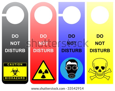 Do not disturb signs - pack 1