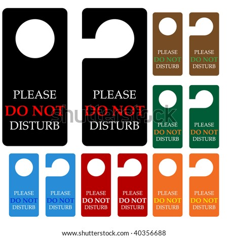 Do not DISTURB, vector