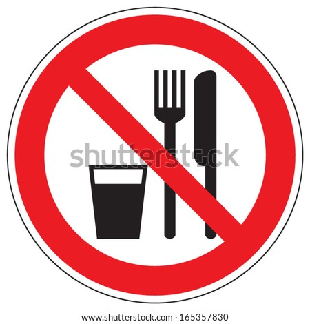 Do not eat and drink stock photo