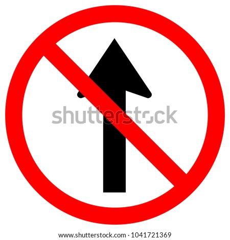 Do Not Go Straight Traffic Sign,Vector Illustration, Isolate On White Background Icon. EPS10
