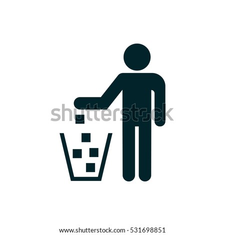 Do not litter icon great for any use. Vector EPS10