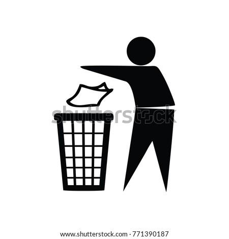 do not litter icon logo