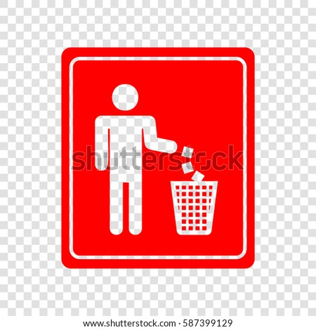 do not litter sign vector red