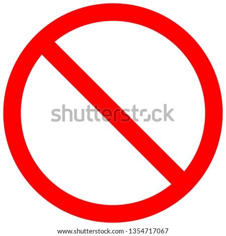 do not sign. do not to do something Foto stock ©