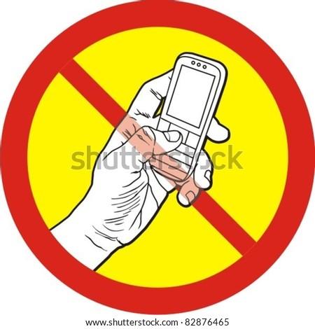 Do not talk mobile phone (cellphone)