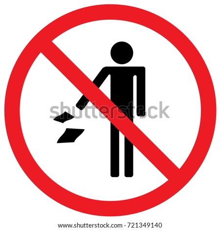 Do Not Throw Garbage Sign. Vector.