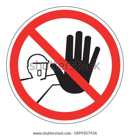 Do not touch, do not enter Background with black circle border Vector illustration Photo stock ©
