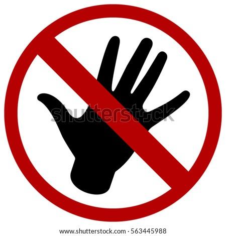 do not touch logo black hand