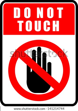 Do Not Touch, Sticker Stock Vector Illustration 141214744 ... Electricity Symbols Clip Art