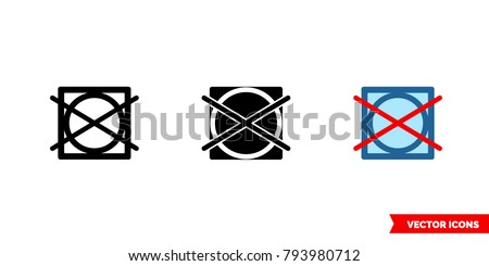 do not tumble dry icon of 3