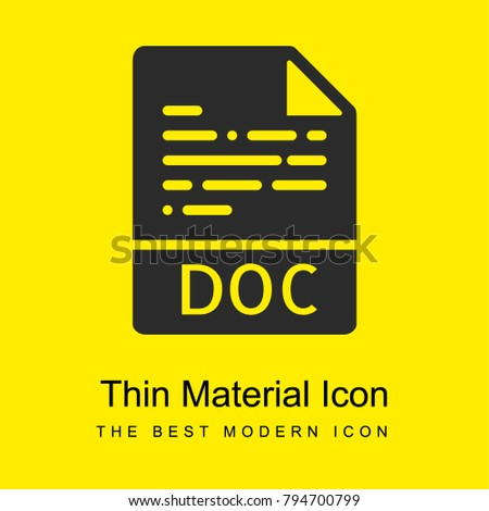 Doc bright yellow material minimal icon or logo design