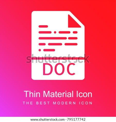 Doc red and pink gradient material white icon minimal design